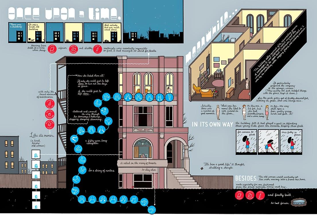 Imagen interior de Building Stories de Chris Ware. Editorial Random House (2012)